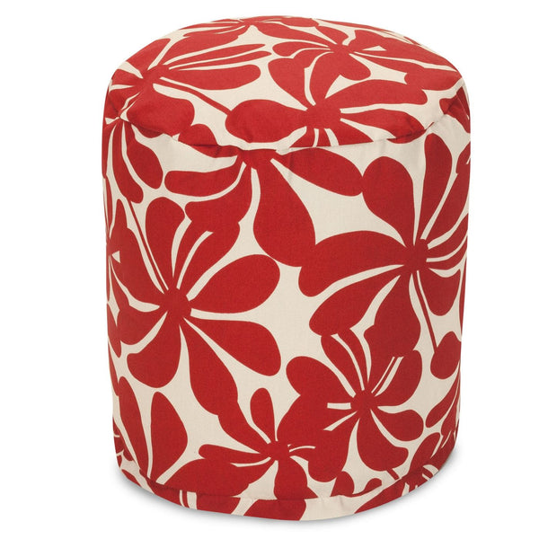 Red Plantation Small Pouf