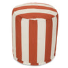 Burnt Orange Vertical Stripe Small Pouf