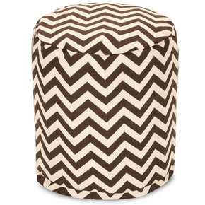 Chocolate Chevron Small Pouf