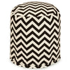 Black Chevron Small Pouf