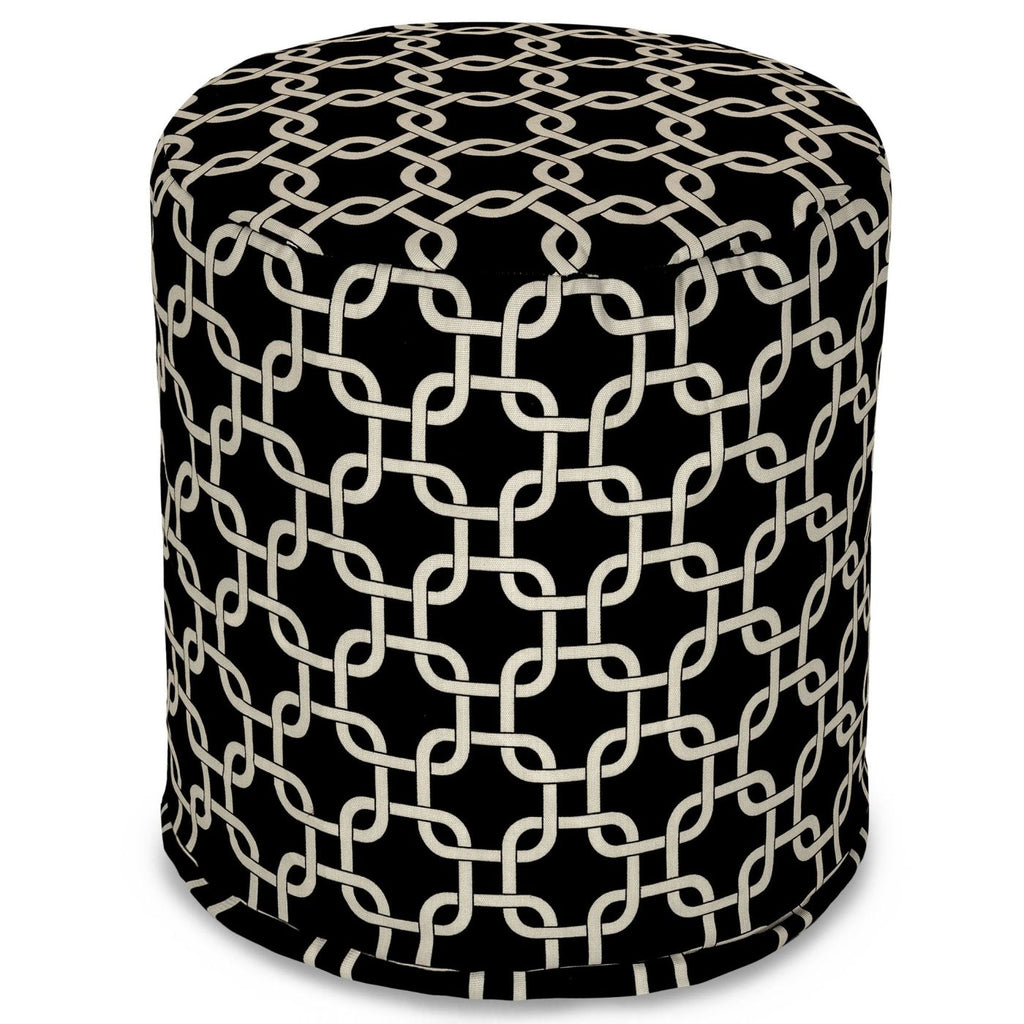 Black Links Small Pouf