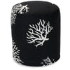 Poufs - Majestic Home 85907220454 Black Coral Small Pouf | 859072204540 | Only $66.70. Buy today at http://www.contemporaryfurniturewarehouse.com