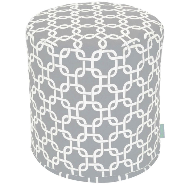 Gray Links Small Pouf