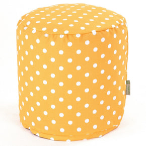 Citrus Ikat Dot Small Pouf