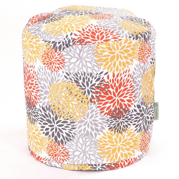 Citrus Blooms Small Pouf
