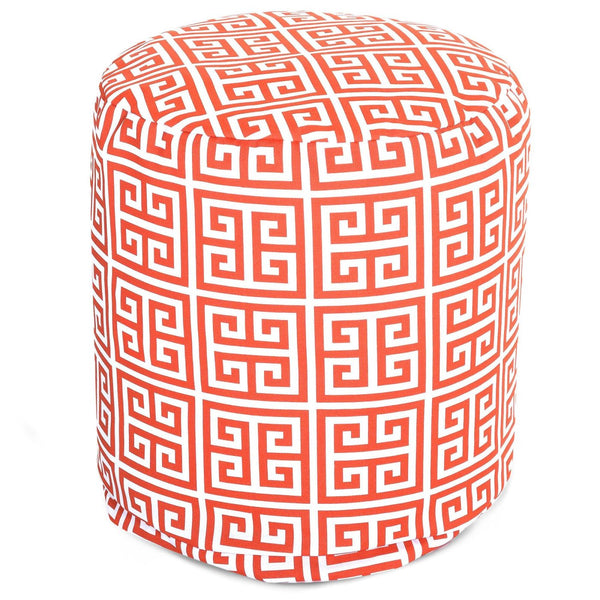 Orange Towers Small Pouf