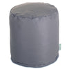 Gray Solid Small Pouf
