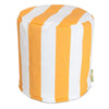Yellow Vertical Stripe Small Pouf