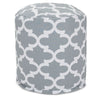 Gray Trellis Small Pouf