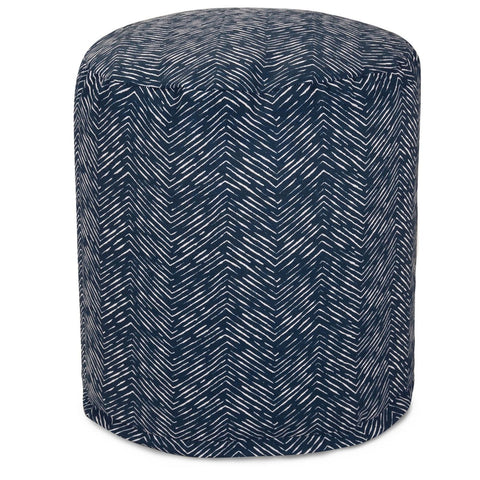 Navy Navajo Small Pouf