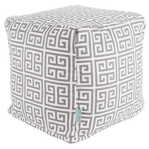 Gray Towers Small Cube Pouf