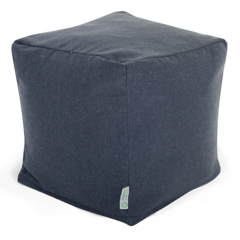 Navy Wales Small Cube Pouf
