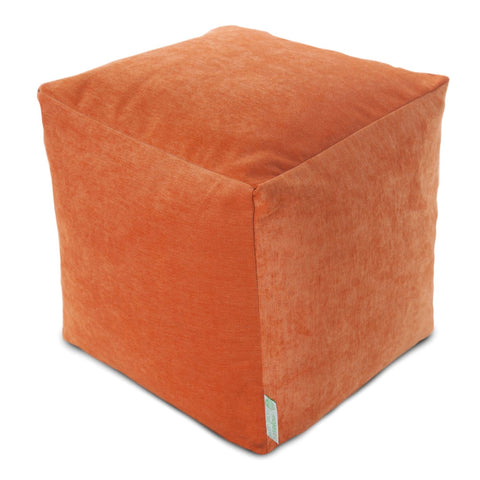 Villa Orange Small Cube Pouf