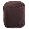 Dark Brown Micro-Velvet Small Pouf