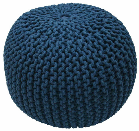 Poufs - nuLOOM FRHMCO1A nuLOOM Cable Knit Navy Pouf | 848433023933 | Only $124.80. Buy today at http://www.contemporaryfurniturewarehouse.com