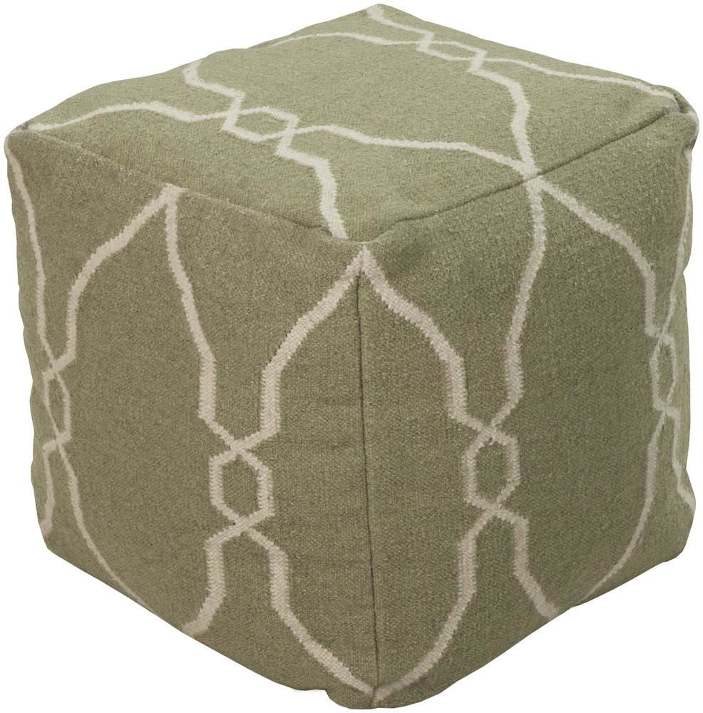 Poufs - Surya POUF-15 Pouf (POUF-15) | Only $235.20. Buy today at http://www.contemporaryfurniturewarehouse.com