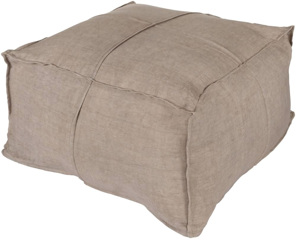 Poufs - Surya SLPH-002 Solid Linen Pouf (SLPH-002) | Only $300.60. Buy today at http://www.contemporaryfurniturewarehouse.com