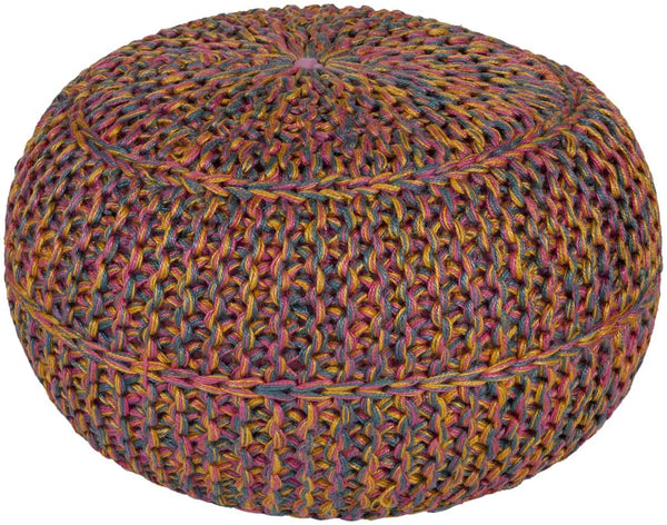 Poufs - Surya WTPF-002 Wisteria Pouf (WTPF-002) | Only $99.60. Buy today at http://www.contemporaryfurniturewarehouse.com