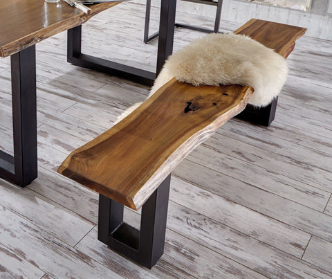 Vig Furniture VGEDPRO220002 Modrest Taylor Modern Live Edge Wood Dining Bench