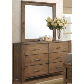 Brayden Transitional Drawer Dresser/Mirror Satin Mindi