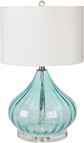 Pyrus Coastal Table Lamp Transparent Blue White | Modern Table Lamp by Surya at Contemporary Modern Furniture  Warehouse