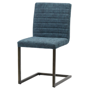 New Pacific Direct 3400022-268 Gerald PU Leather Chair (Set of 2) Kalahari Blue