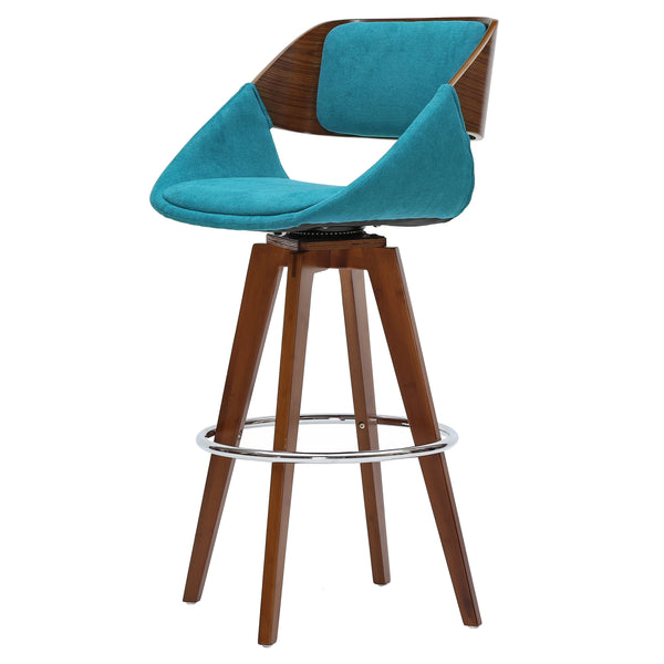 New Pacific Direct 1160004-291W Cyprus Fabric Bar Stool Santorini Teal Green