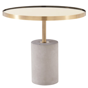 New Pacific Direct 1150002 Andrea End Table Brushed Gold