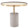 Andrea End Table Brushed Gold