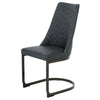 New Pacific Direct 3000007-280 Kyla PU Leather Chair (Set of 2) Element Black