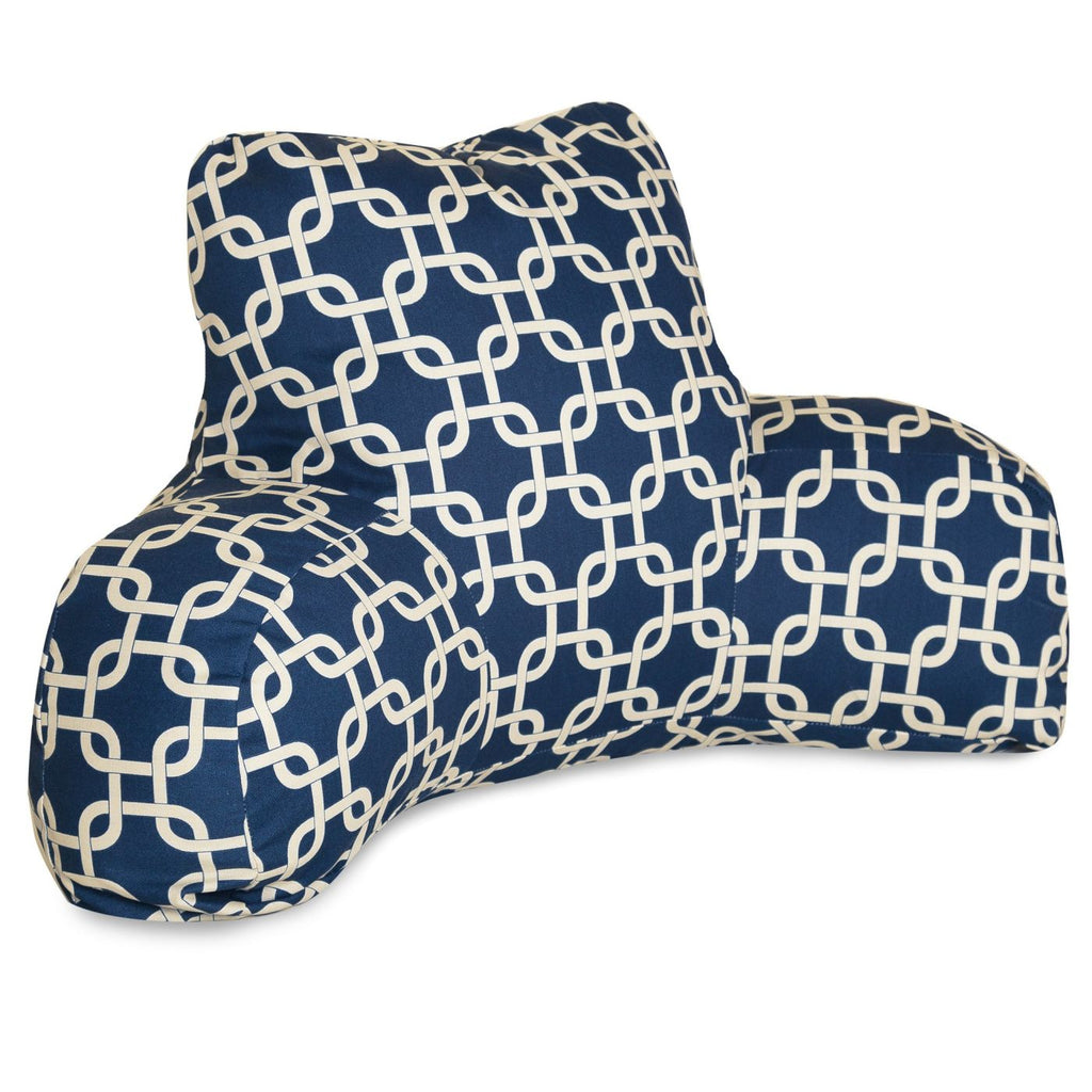 Navy Blue Links Reading Pillow
