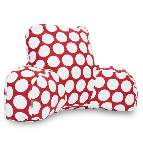 Red Hot Large Polka Dot Reading Pillow