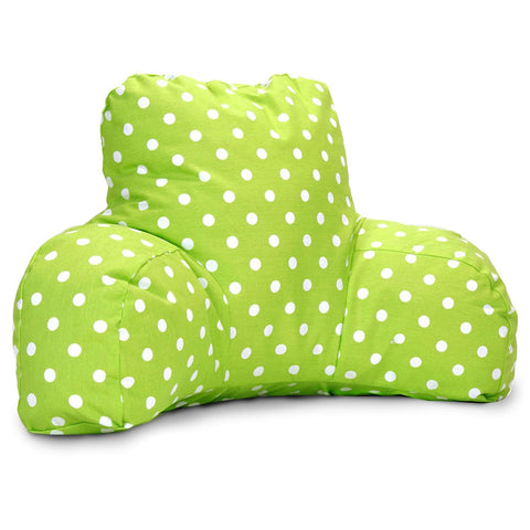 Lime Small Polka Dot Reading Pillow