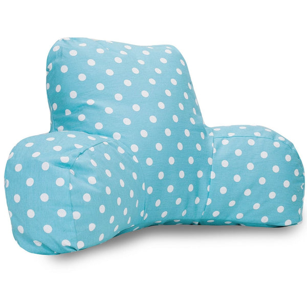 Aquamarine Small Polka Dot Reading Pillow