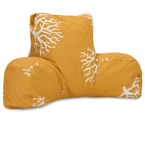 Yellow Coral Reading Pillow