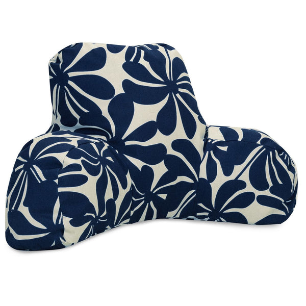 Navy Blue Plantation Reading Pillow