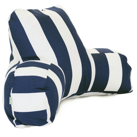 Navy Blue Vertical Stripe Reading Pillow