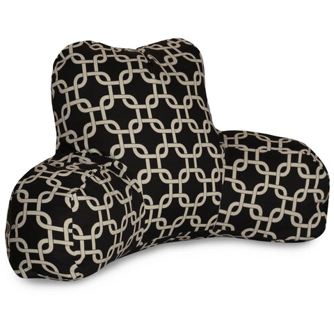 Black Links Reading Pillow