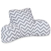 Gray Chevron Reading Pillow