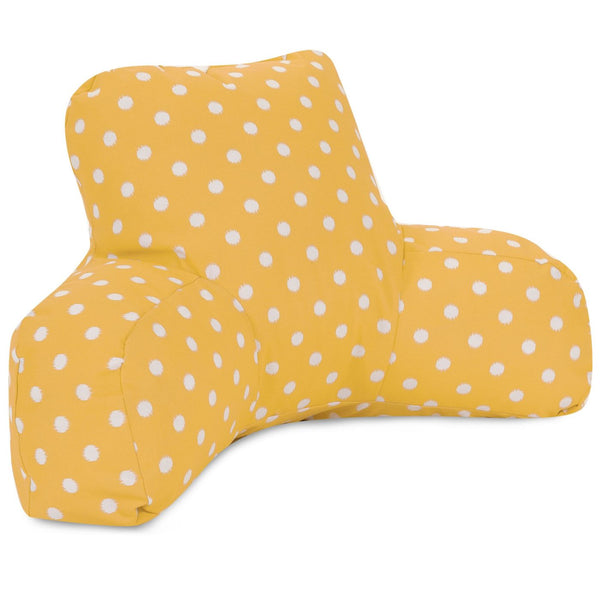 Citrus Ikat Dot Reading Pillow