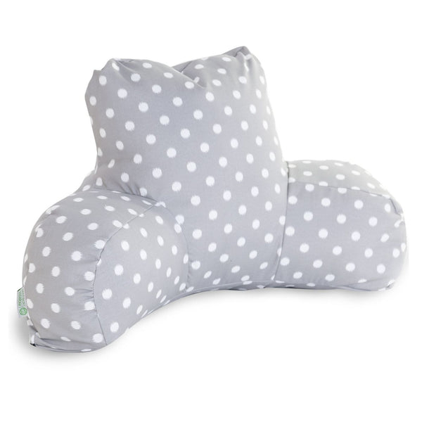 Gray Ikat Dot Reading Pillow