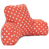 Orange Ikat Dot Reading Pillow
