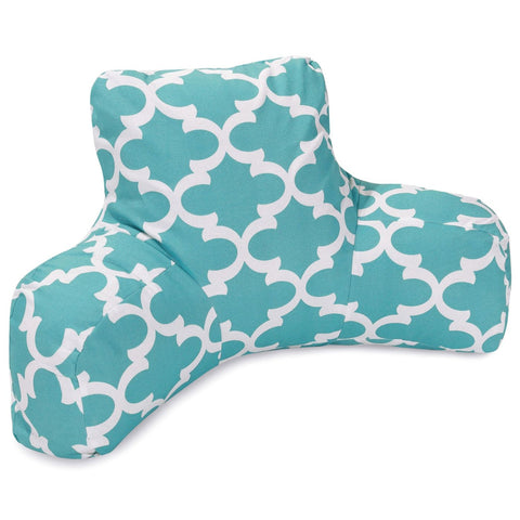 Teal Trellis Reading Pillow