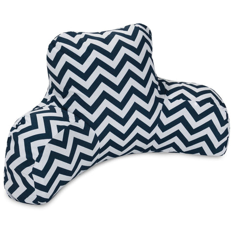 Reading Pillows, Throw Pillows - Majestic Home 85907223098 Navy Chevron Reading Pillow | 859072230980 | Only $71.80. Buy today at http://www.contemporaryfurniturewarehouse.com