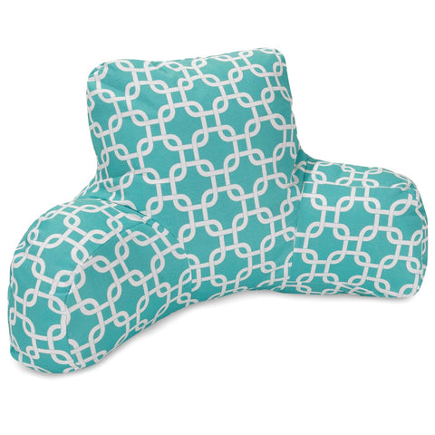 Teal Links Reading Pillow