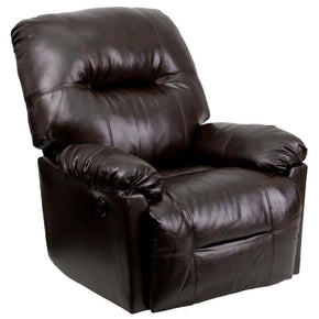 Recliners - Flash Furniture AM-CP9350-9075-GG Contemporary Bentley Brown Leather Chaise Power Recliner with Push Button | 847254056021 | Only $434.80. Buy today at http://www.contemporaryfurniturewarehouse.com