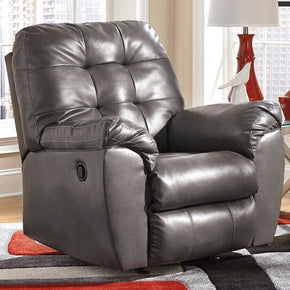 Signature Design By Ashley Alliston Rocker Recliner In Gray Durablend