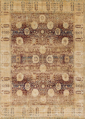 Reds, Rugs, Transitional, Yellow & Golds - Loloi Rugs ANASAF-09REGO2740 Loloi Anastasia Red / Gold Area Rug | 885369251313 | Only $139.00. Buy today at http://www.contemporaryfurniturewarehouse.com