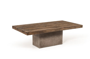 Vig Furniture VGGR649245 Modrest Renzo Modern Oak & Concrete Coffee Table
