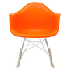 Rocker Lounge Chair In Orange Rocking